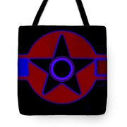 Pentagram In Red Tote Bag