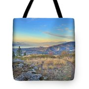 Penticton In The Distance Tote Bag