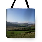 Pentlands With Clouds And Some Sun. Tote Bag