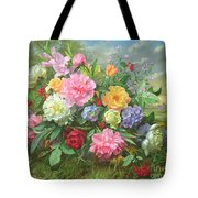 Peonies And Hydrangea Tote Bag