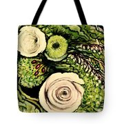 Peonies And Hypercom Tote Bag