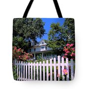 Peonies And Picket Fences Tote Bag