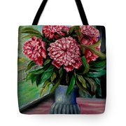 Peonies Flowers Original Painting Tote Bag
