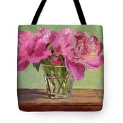 Peonies In Tumbler Tote Bag