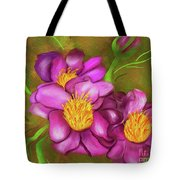 Peonies On Holiday Tote Bag