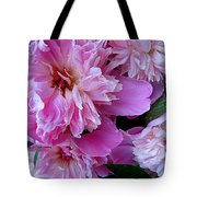 Peonies Under The Weather Tote Bag