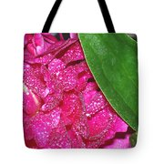 Peony And Leaf Tote Bag