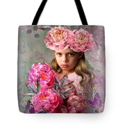 Peony Flower Child Tote Bag