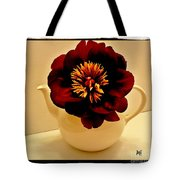 Peony In A Tea Kettle Tote Bag