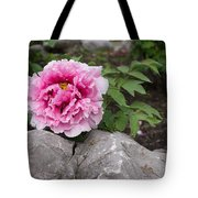 Peony On The Rocks - The Marvels Of Spring Tote Bag