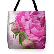 Peony Pair In Pink And White  Tote Bag