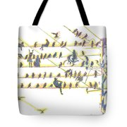 People And Birds. 18 March, 2016 Tote Bag