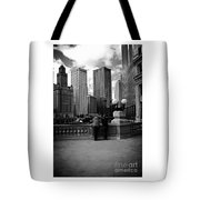 People And Skyscrapers Tote Bag