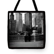 People And Skyscrapers - Square Tote Bag