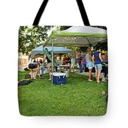 People At Food Event 3 Tote Bag