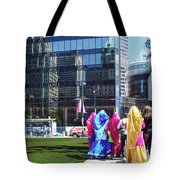 People - East Indian Women In Traditional Dress Tote Bag