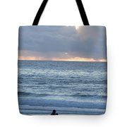 People Gather At Carmel Beach Tote Bag