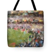People In A Stadium Tote Bag