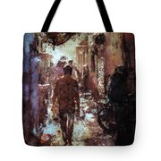 People In Alley Tote Bag