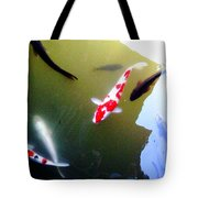 People In The Pond Tote Bag