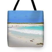 People On The Beach In Espanola Island. Tote Bag