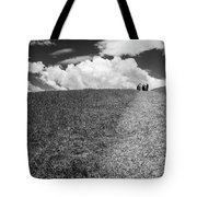 People On The Hill Bw Tote Bag