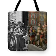 People - People Waiting For The Bus - 1943 - Side By Side Tote Bag