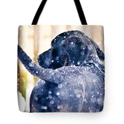 Pepper And The Snow Storm Tote Bag