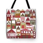 Peppermint Village Tote Bag