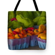 Peppers At The Produce Market Tote Bag