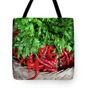 Peppers In A Basket Tote Bag