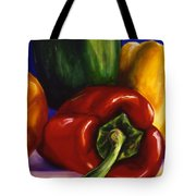 Peppers On Peppers Tote Bag