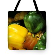Peppers Yellow And Green Tote Bag