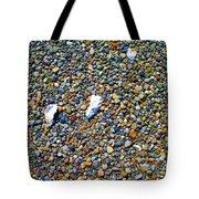 Pepples On The Beach Tote Bag