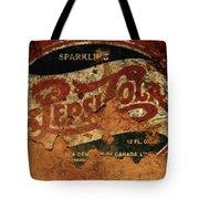 Pepsi Cola Vintage Sign 5b Tote Bag