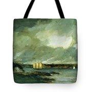 Pequot Light House Connecticut Coast 1902 Tote Bag