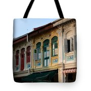Peranakan Architecture Design Houses And Windows Joo Chiat Singapore Tote Bag