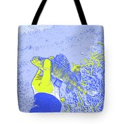 Perch Blue Yellow Tote Bag