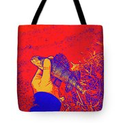 Perch Red Yellow Blue Tote Bag