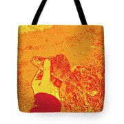 Perch Red Yellow Tote Bag