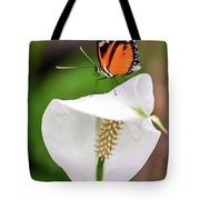 Perching Butterfly Tote Bag