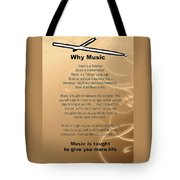 Percussion And Drums Why Music Picture Or Poster 4826.02 Tote Bag