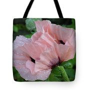 Perfect Peach Poppy Tote Bag