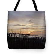 Perfect Pier View 4 4/10 Tote Bag