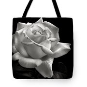 Perfect Rose In Black And White Tote Bag