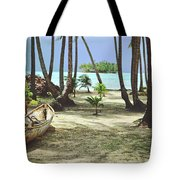 Perfect Tropical Paradise Islands With Turquoise Water And White Sand Tote Bag