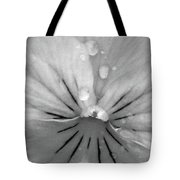 Perfectly Pansy 15 - Bw - Water Paper Tote Bag