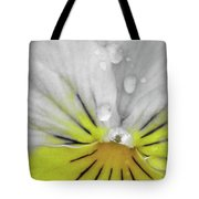 Perfectly Pansy 16 - Bw - Yellow Tote Bag