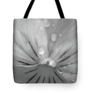 Perfectly Pansy 17 - Bw Tote Bag