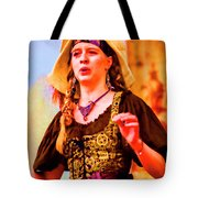 Performer Singing On Stage - In Watercolor Photo Tote Bag